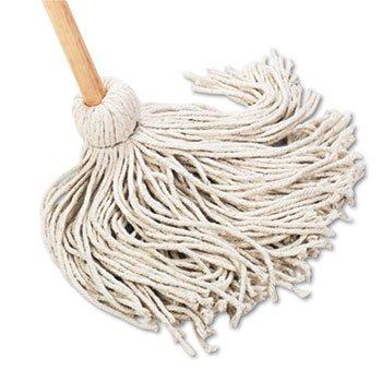 Deck 20 oz. Cotton Fiber Mop Head w/ Wooden Handle