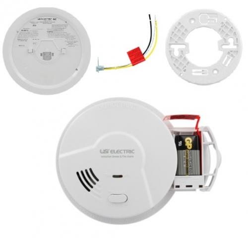 Usi Smoke Detector Fire Alarm W Ionization Sensor Hardwired