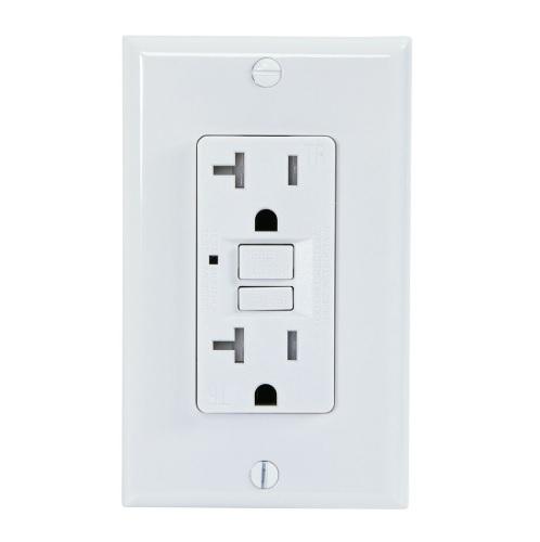 20 Amp GFCI Outlet, Tamper Resistant, White