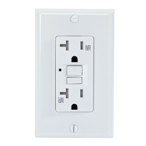 20 Amp GFCI Outlet, Tamper & Weather Resistant, White