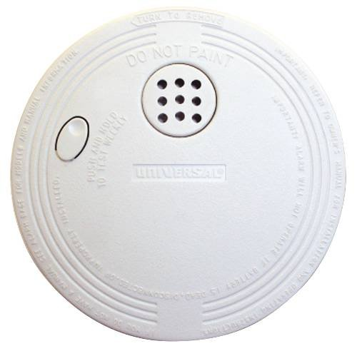 9 Volt Battery Operated Smoke Detector with Ionization Alarm