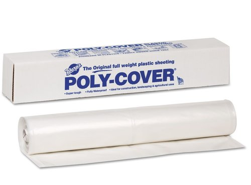 Poly-Cover Plastic Sheets, 4 Mil., 10 x 100, Clear