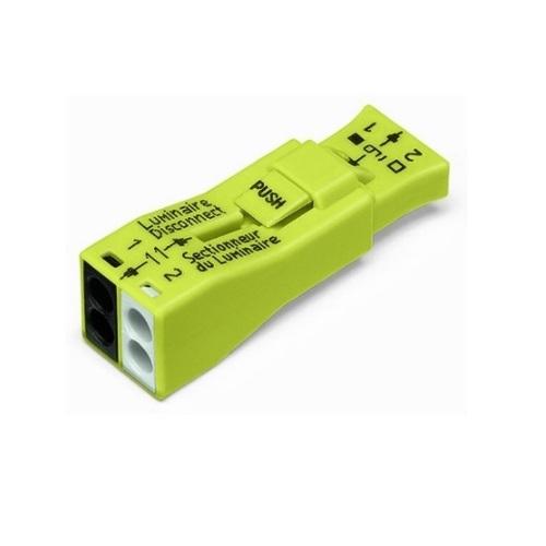 Luminaire Quick Disconnect, 2-Port Lumi-Nut Pushwire Connector, 2500PK