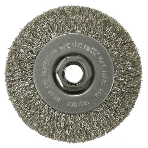 Narrow Face Crimped Wire Wheel 4 X 5 Steel 13081