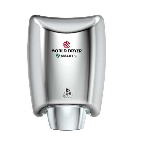 1200W SMARTdri High-Speed Hand Dryer, 110V-120V, Polished Chrome Aluminum
