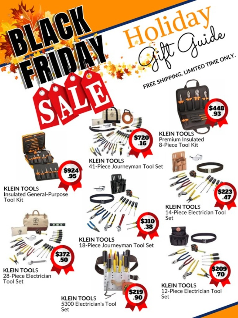 black Friday holiday sale catalog for Klein Tools tool sets