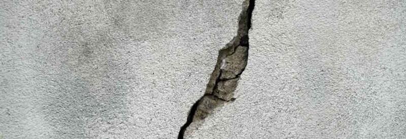 cracked cement ground