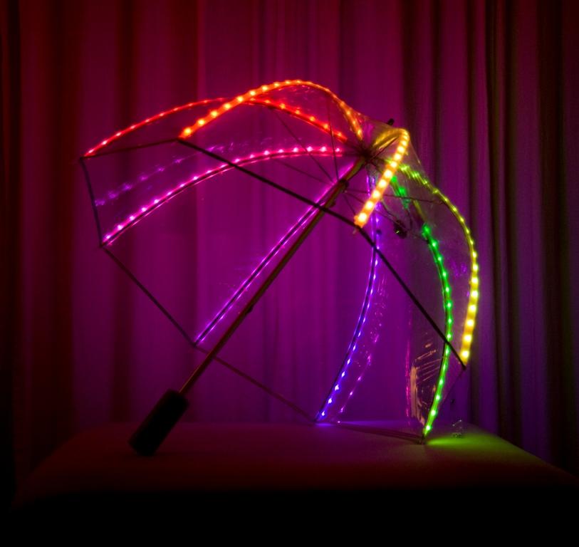 LED strip light umbrella