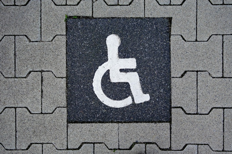ADA compliant disabled parking space