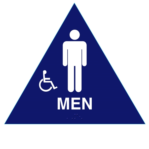 ADA compliant men restroom sign