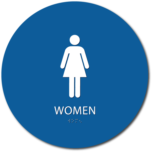ADA compliant women bathroom sign