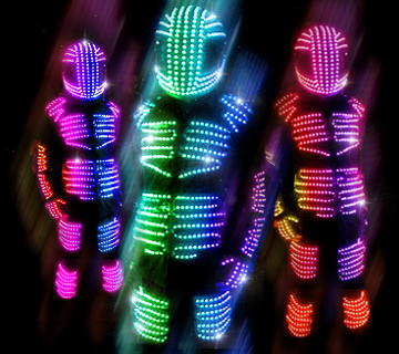 LED Robot Suits