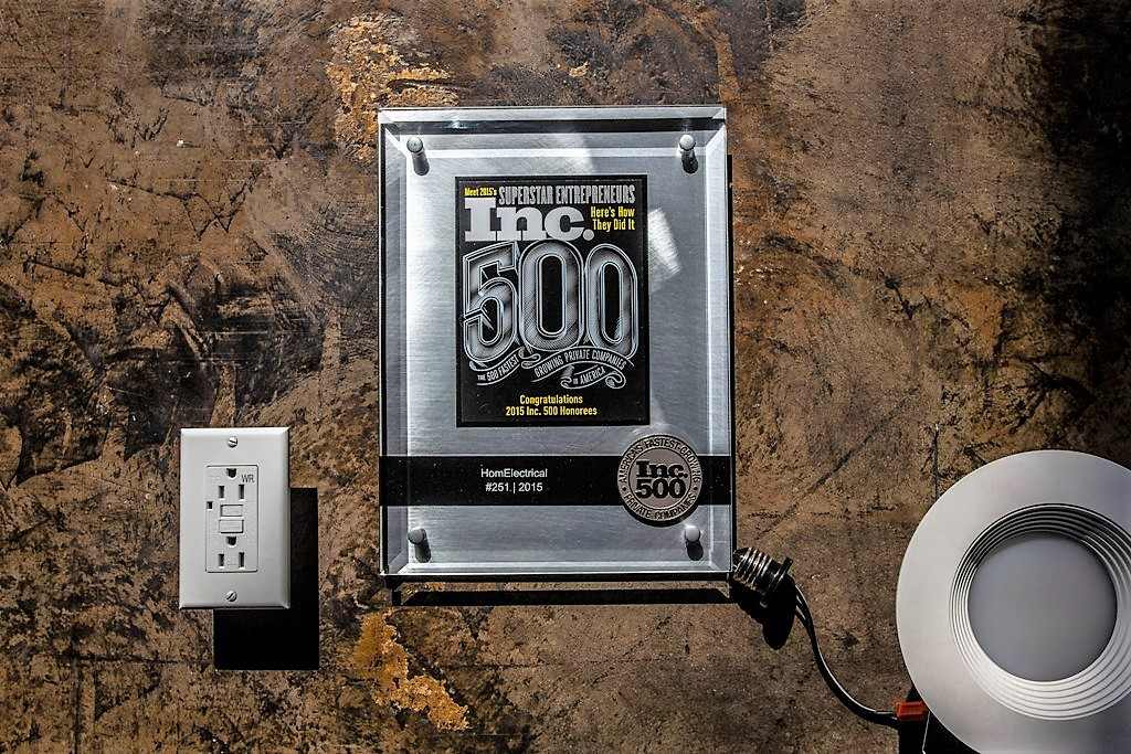HomElectrical named on 2015 Inc 5000 List
