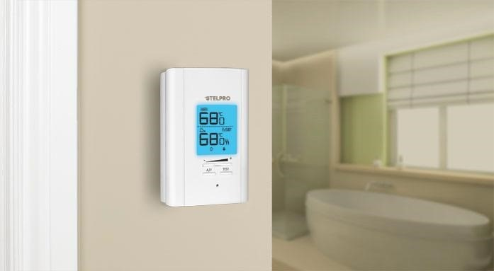 A Digital wall mounted thermostat