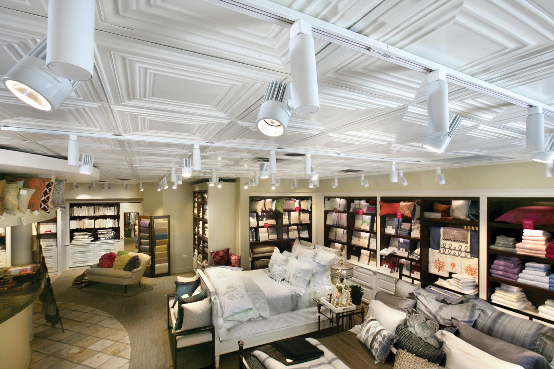 track lighting inside retail store