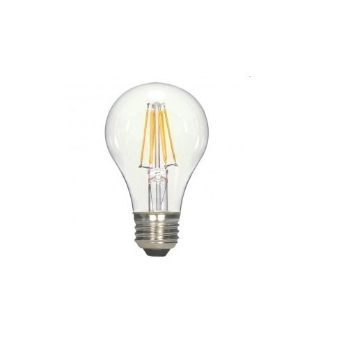 clear finish LED filament bulb
