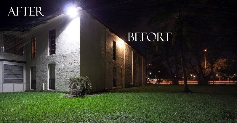 Before and After Results of LED Flood Light