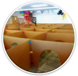 creative cardboard maze