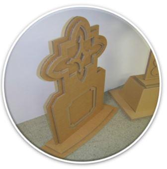 cardboard tombstone cutout
