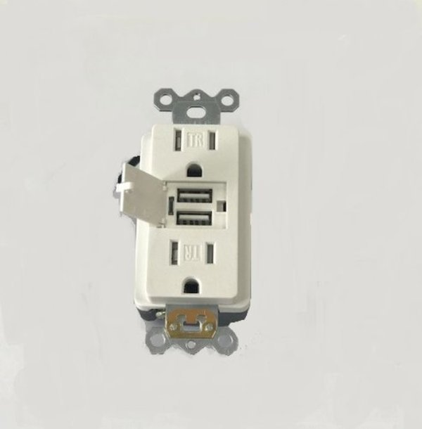general protecht duplex receptacle with dual usb charging ports