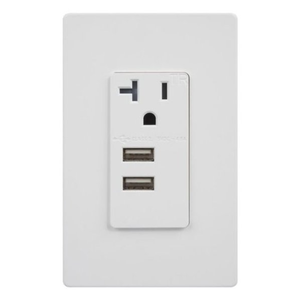 enerlites 20 amp single usb outlet with dual ports