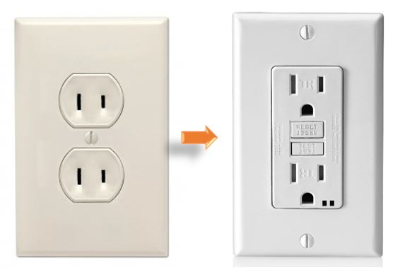 2 prong and 3 prong electrical outlets