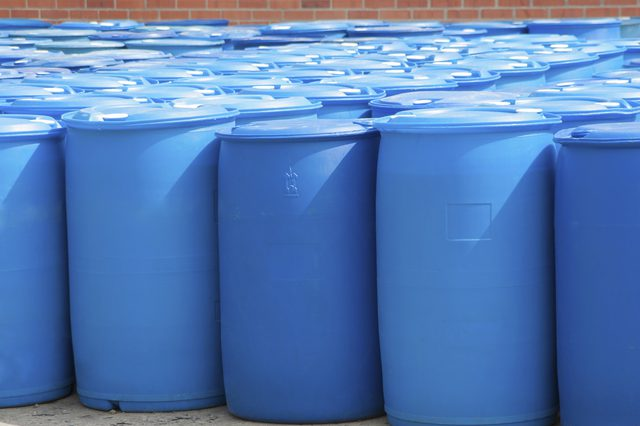 use 50 gallon drums for rain water