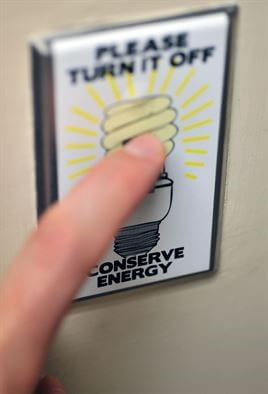 turn off light and save energy
