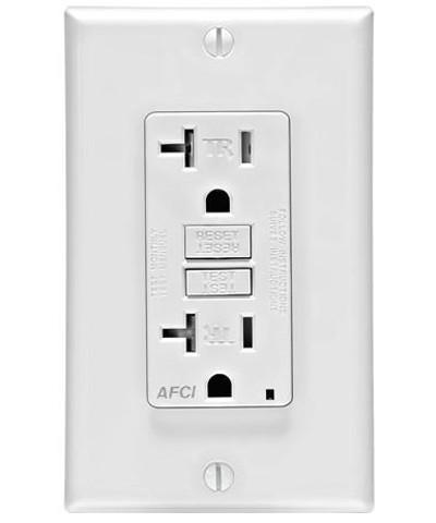 AFCI electrical outlet