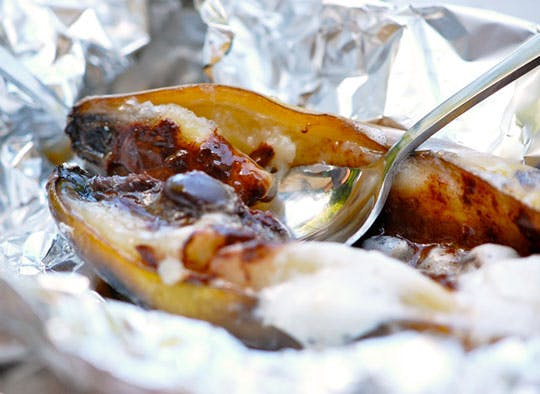 campfire recipe banana boat