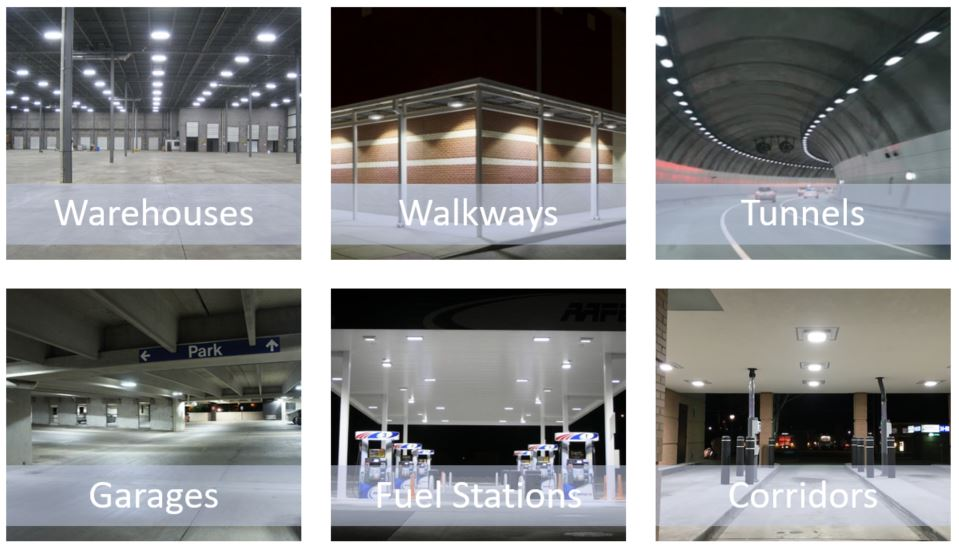 commercial LED canopy lighting