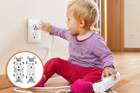 GFCI electrical outlet child safety features