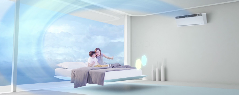 Mini Split Ductless System Air Conditioner From Panasonic Custom Bedroom Air Conditioners Style Interior