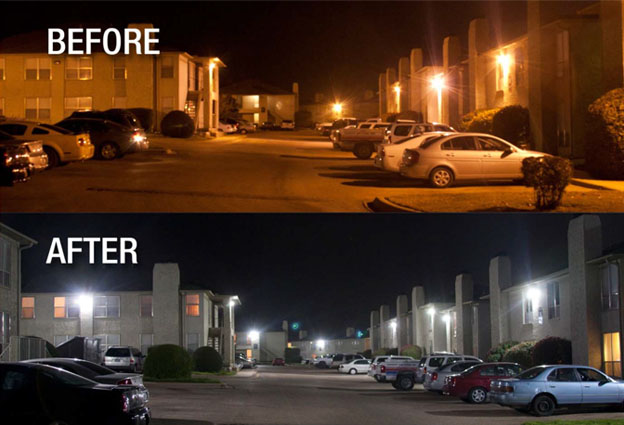corn bulb before and after apartment complex