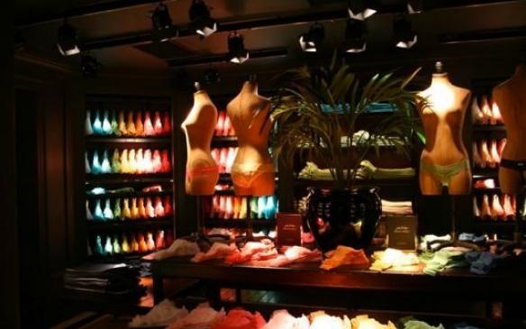 inside retail store display lighting