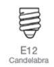 e-12 Candelabra Base