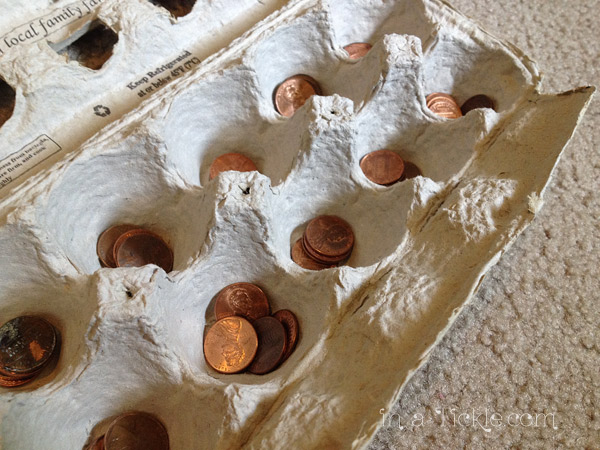 recycled egg carton DIY mancala game