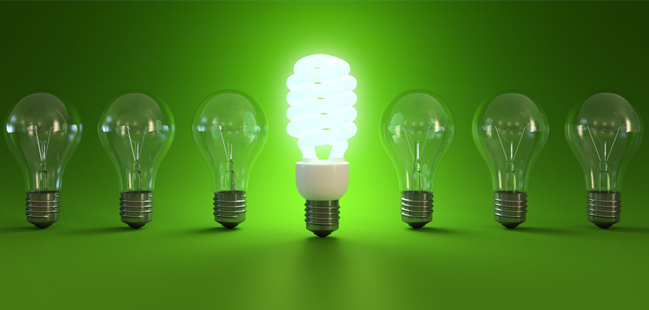 green lightbulbs