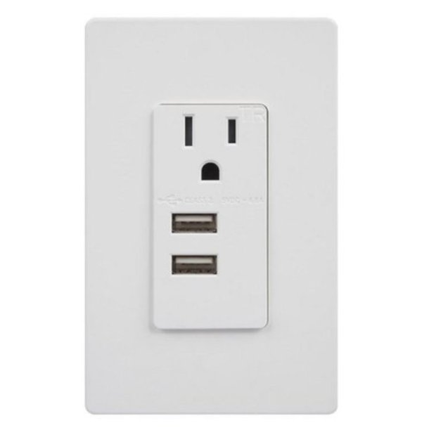 enerlites 15 amp single usb outlet with dual ports