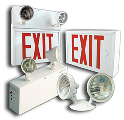 emergency and exit sign lighting