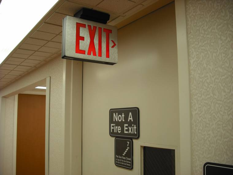 Where not to put your exit sign