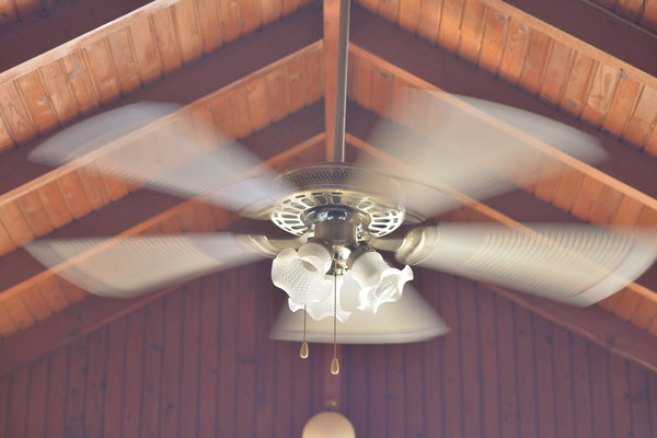 use ceiling fans to trap the heat