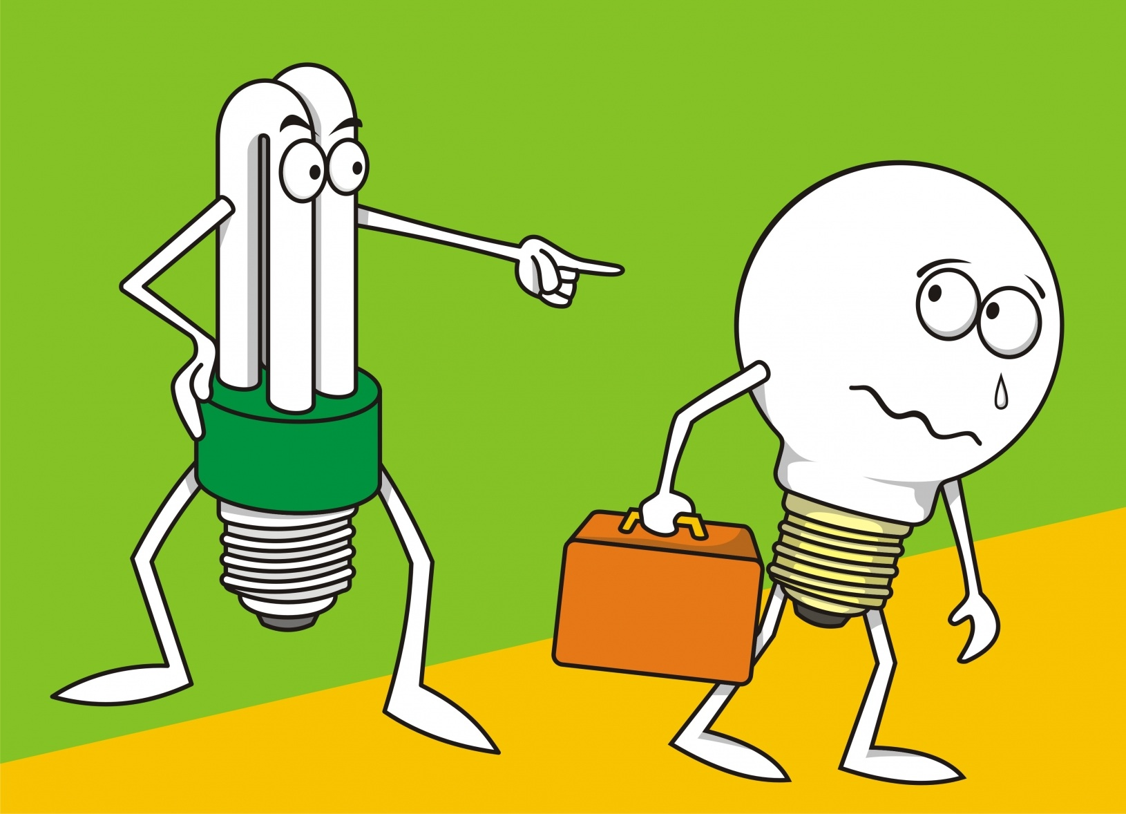 Replace old bulbs with more energy efficient ones