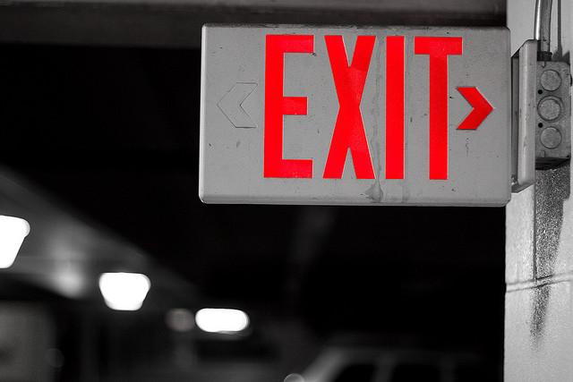 emergency exit LED lighting sign