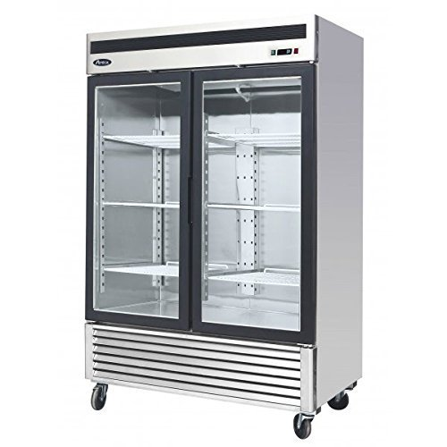 glass doors on commercial refrigerator