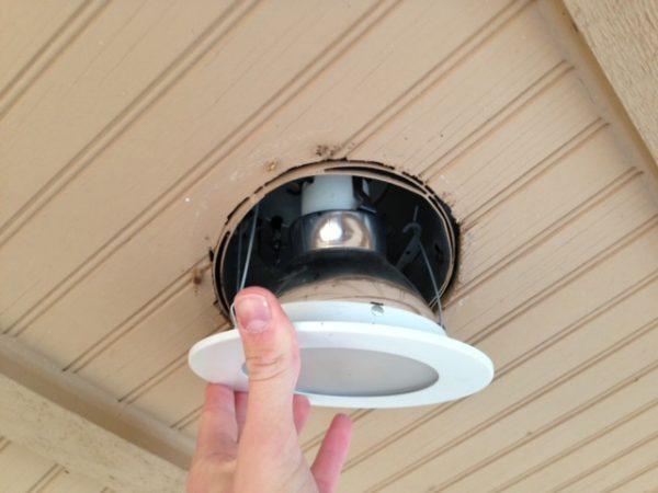 installing led downlight retrofit kit