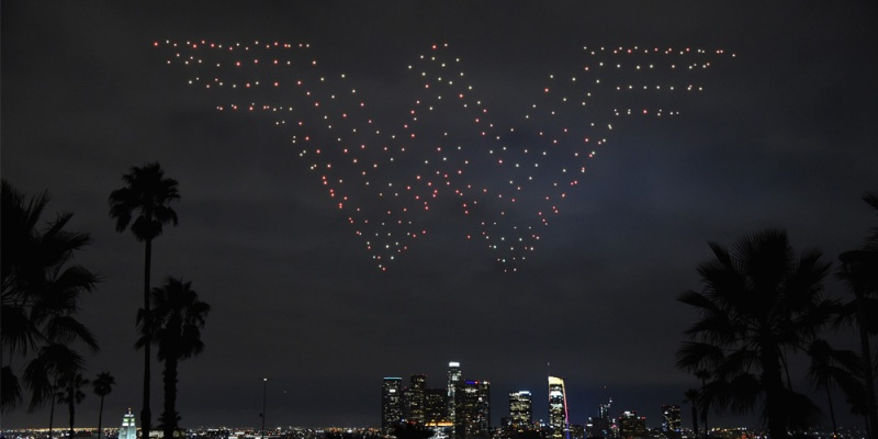 Warner Bros Wonder woman Intel drone light show