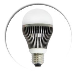 LED light bulb fins