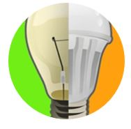 LEd light bulb versus incandescent
