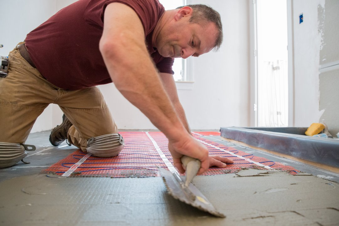 underfloor mat heating installation